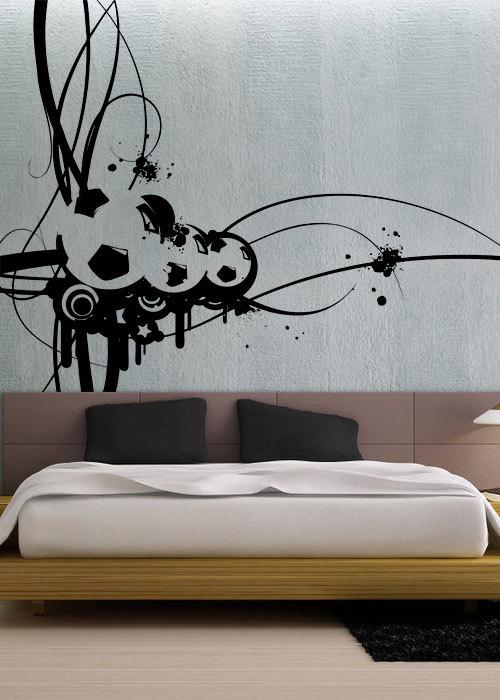 modern soccer uber decals wall decal vinyl decor art sticker removable mural modern a297. Black Bedroom Furniture Sets. Home Design Ideas