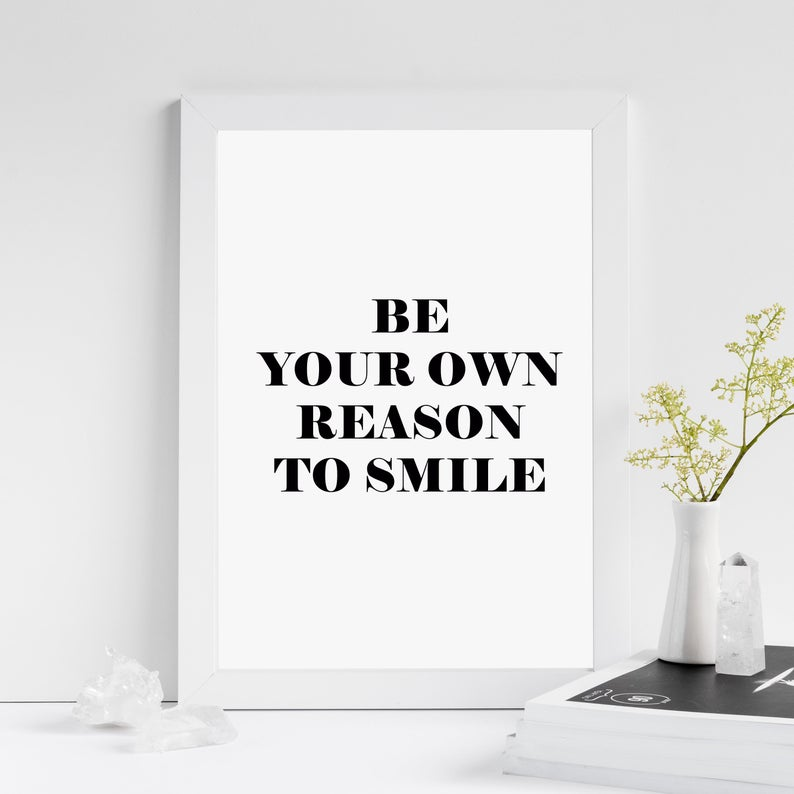 Printed Quotes Inspirational //Motivational A4 Unframed picture Gift Card