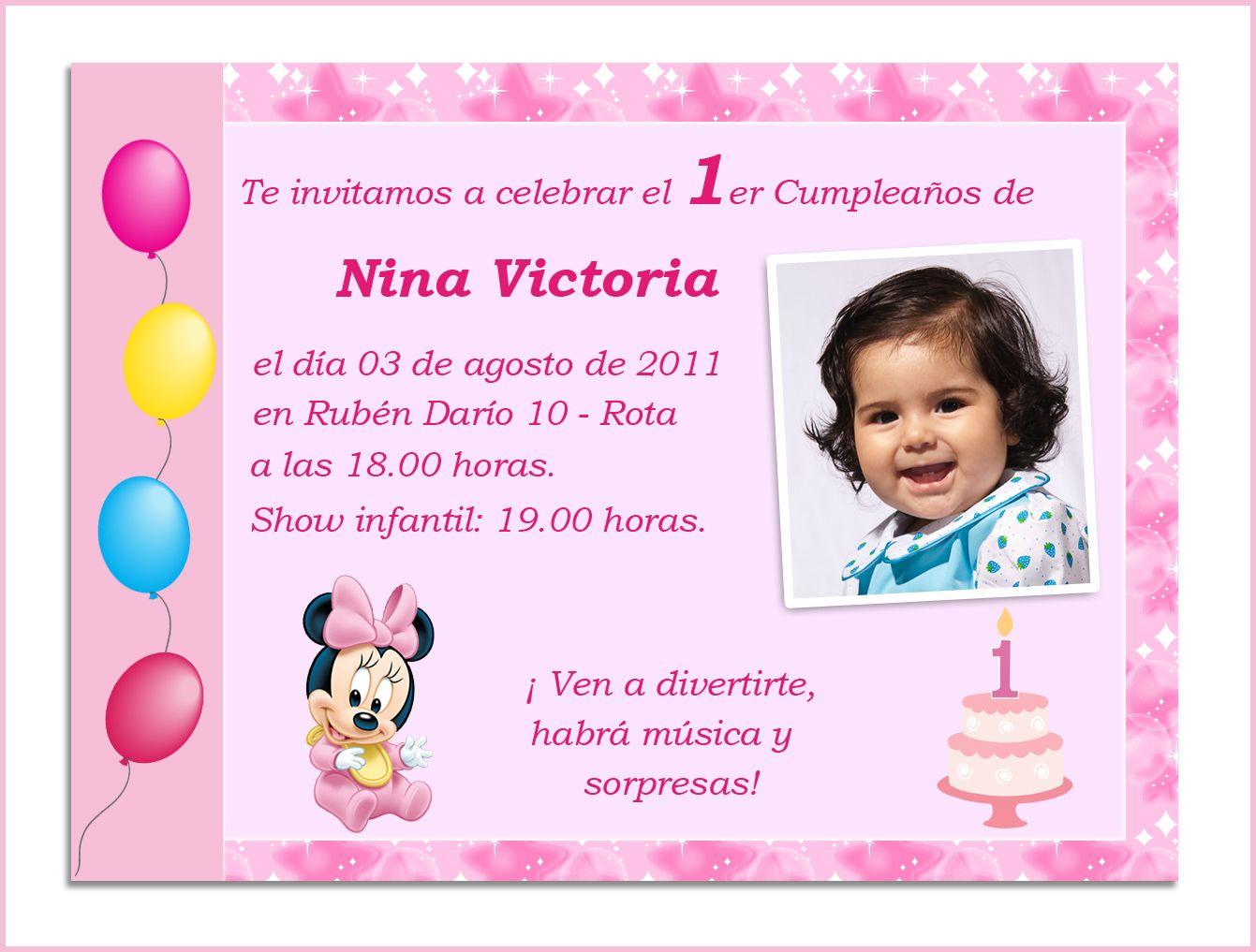 Invitaciones Cumpleaños 1 Año Para Protector De Pantalla 8