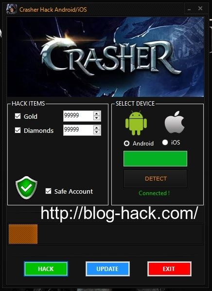 Crasher Hack Gold Diamonds download online, Full version of