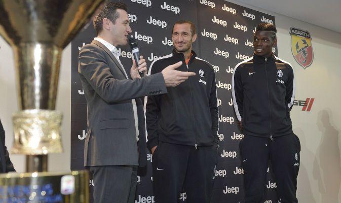 Juventus Asian / Pacific Tour , Giorgio Chiellini e Paul Pogba presso il Peter Warren Jeep dealership