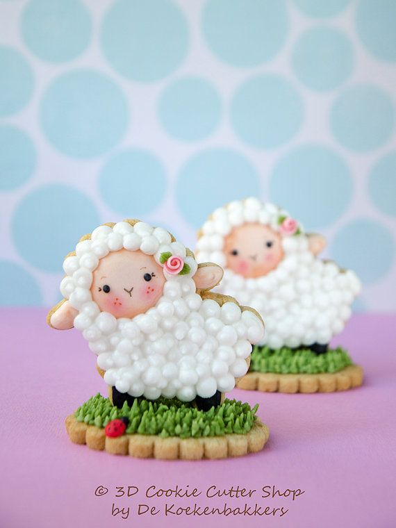 Sheep Cookie Cutter Set van 3DCookieCutterShop op Etsy