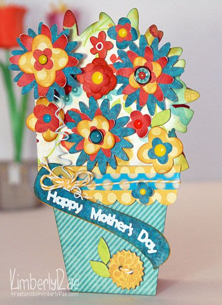 Mothers Day Card By Dt Member Kimberlyrae Using Notable 12x12 Deluxe Paper Accessory Pack My Minds Eye Found At Fotobella