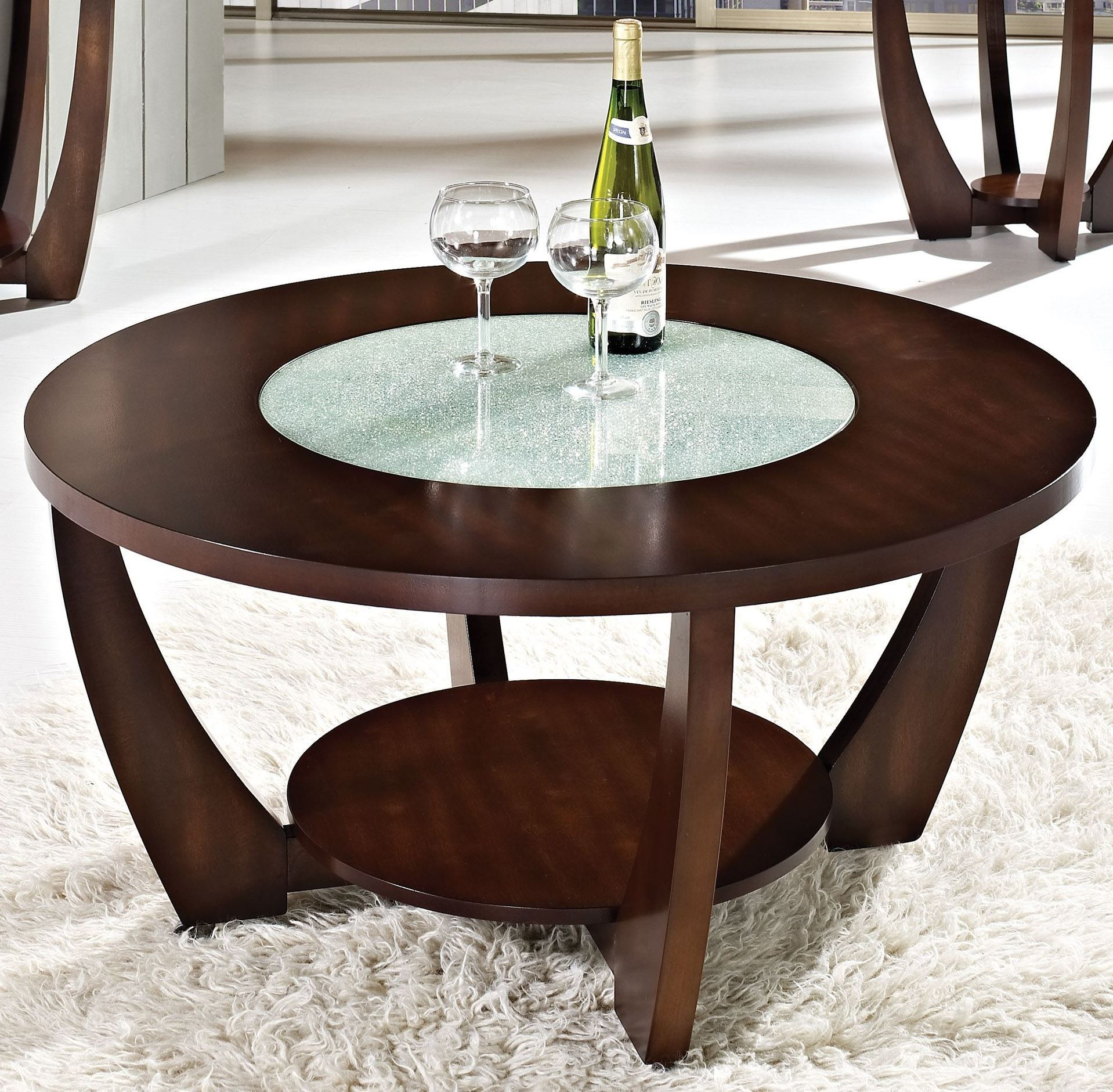 Rafael Merlot Cherry Cocktail Table With Casters Cherry Wood Coffee Table Round Coffee Table Modern Coffee Table Wood [ 1881 x 1918 Pixel ]