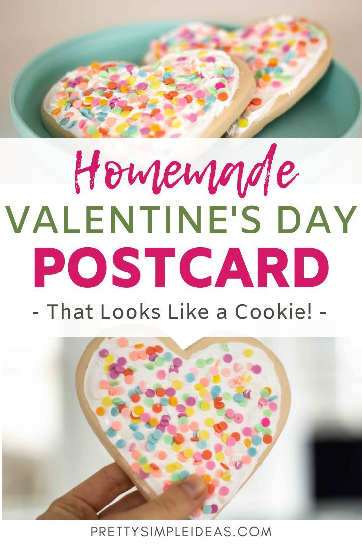Looking for a cute DIY valentine's day card that can be for kids, for boyfriend or husband, or for friends? This handmade valentine's day card shaped like a sugar cookie will WOW everyone on your list. #valentinesday #valentinesdaycard #DIYcards