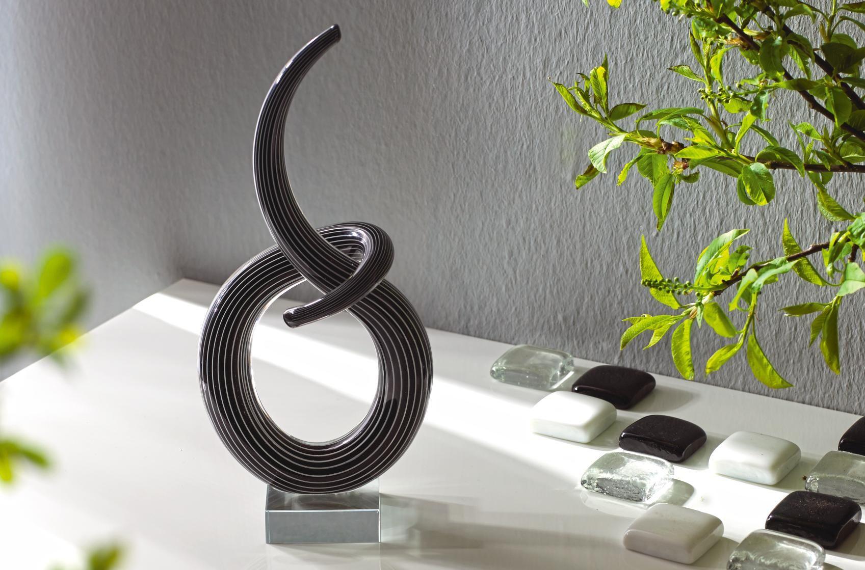 Dekoobjekt aus Muranoglas: ein abstrakter und moderner