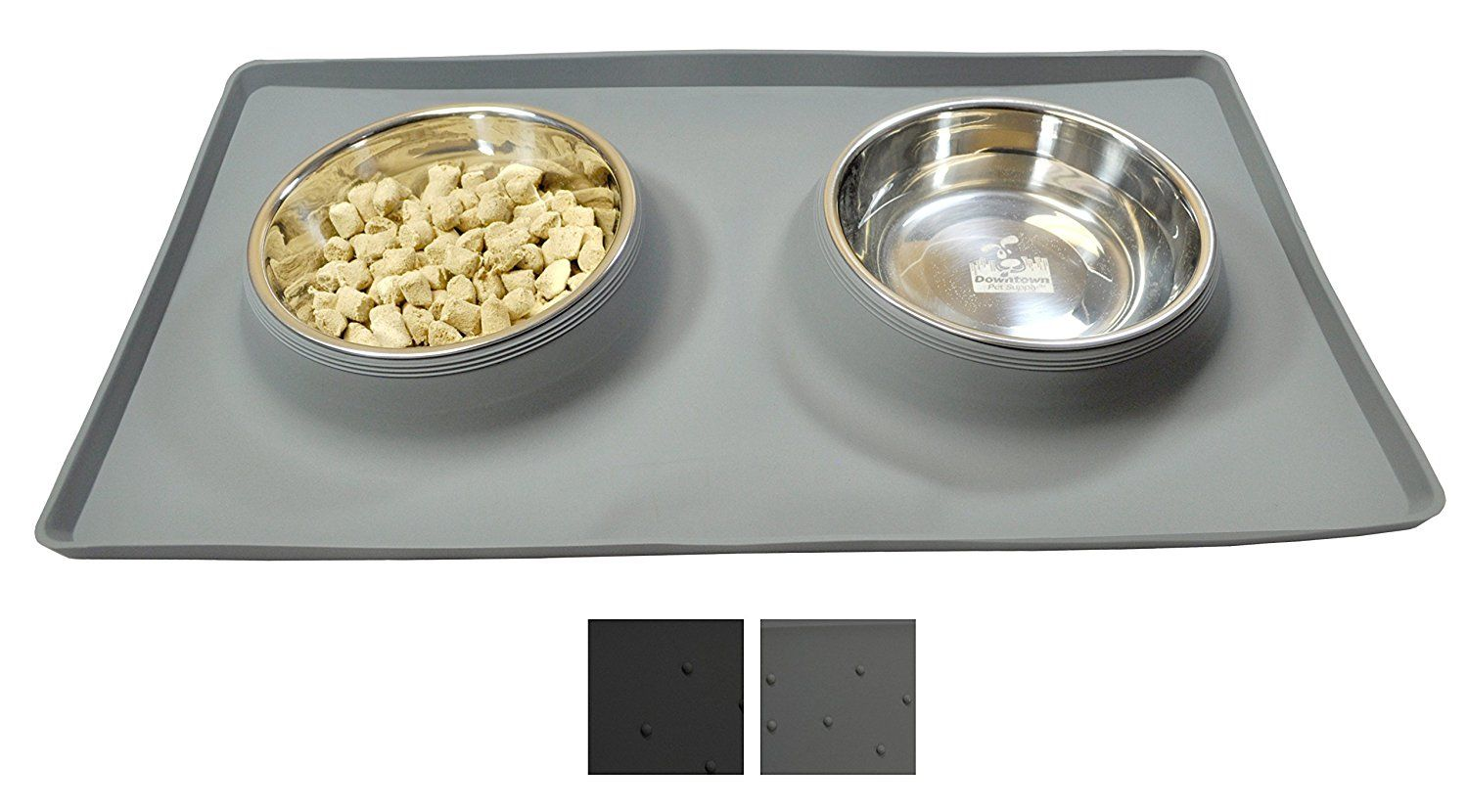 No Spill Dog Cat Food And Water Bowl Includes Custom Silicone Feeding Station Mat And Two Dog Bowls Dog Bowls Pet Food Storage Container Pet Food Storage
