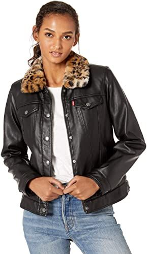 New Levi's Women's Classic Sherpa Lined Faux Leather ...