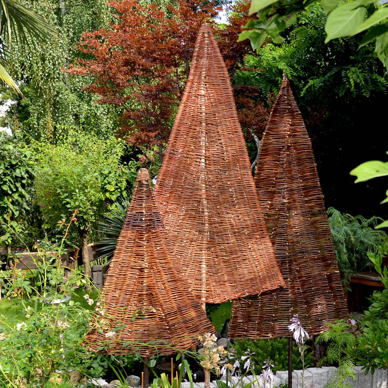 Sichtschutz Weidenbaum Tanne Natur Sichtschutz Weide