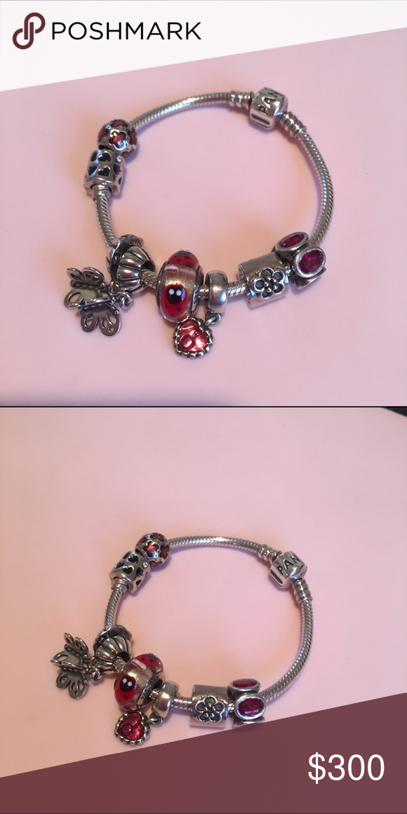 Pandora Bracelet. Bracelet is small and brand new. All the charms only be  worn couple hours and almost brand new. Bundle price together.
