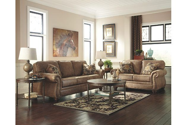 earth larkinhurst sofa and loveseat ashley furniture plus coffee table and end table