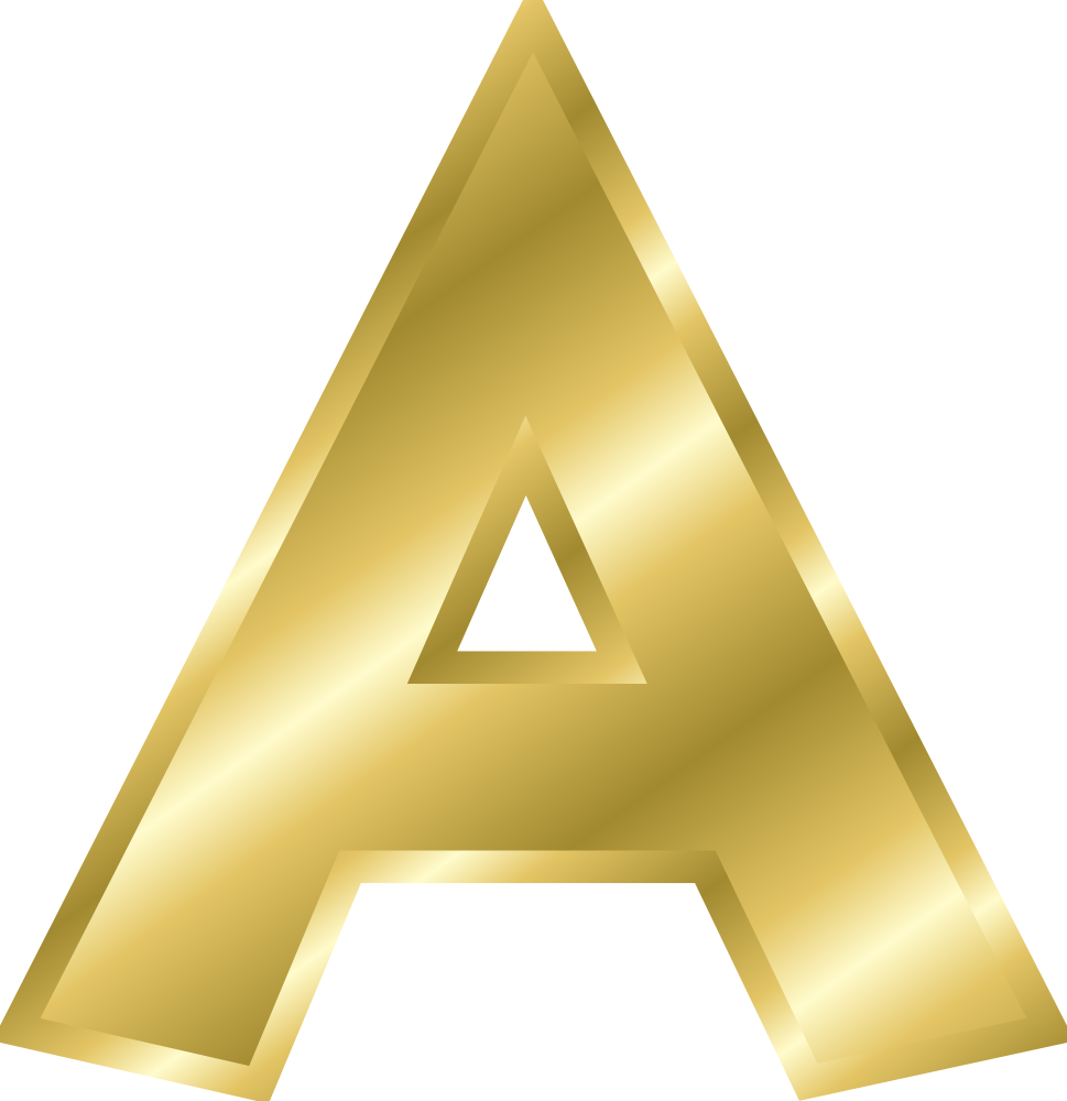 One Line Letter Art : Effect letters alphabet gold online labels clip art