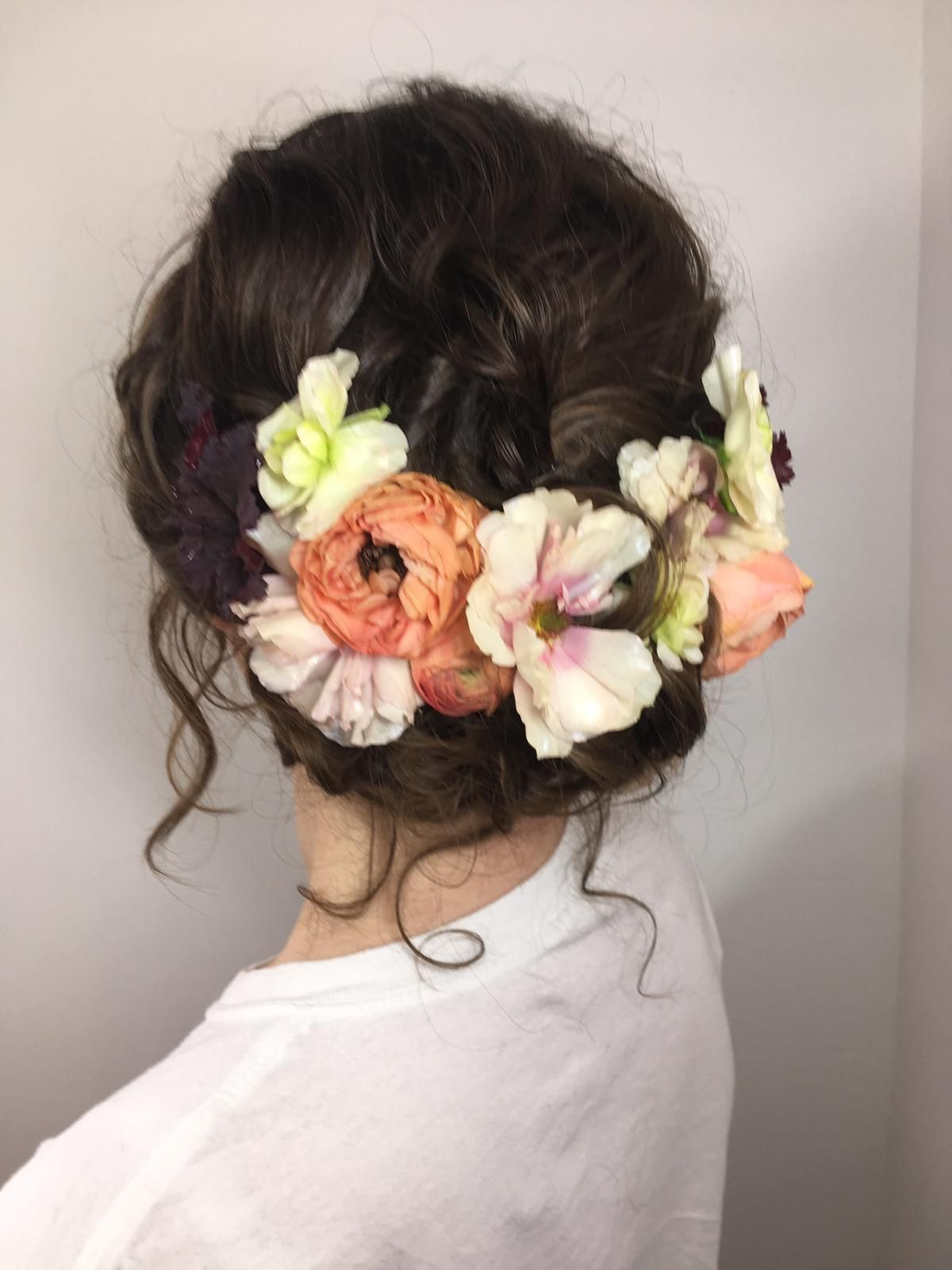 Spring hair flower inspiration by Carolanne Armstrong
