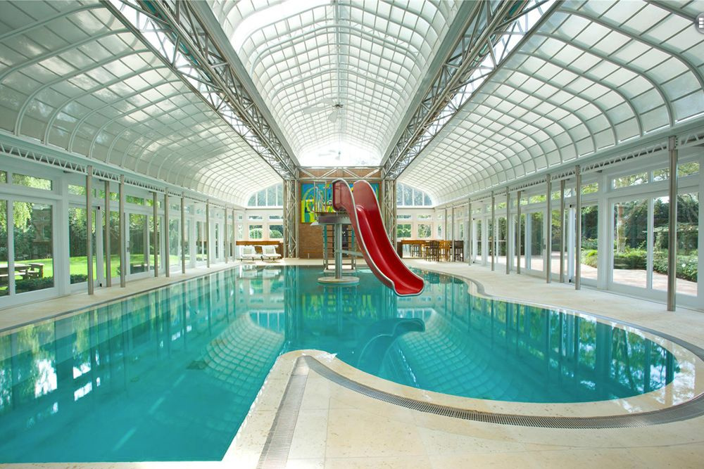 9 Homes For Sale With Epic Water Slides Water Slides Water And Indoor Pools