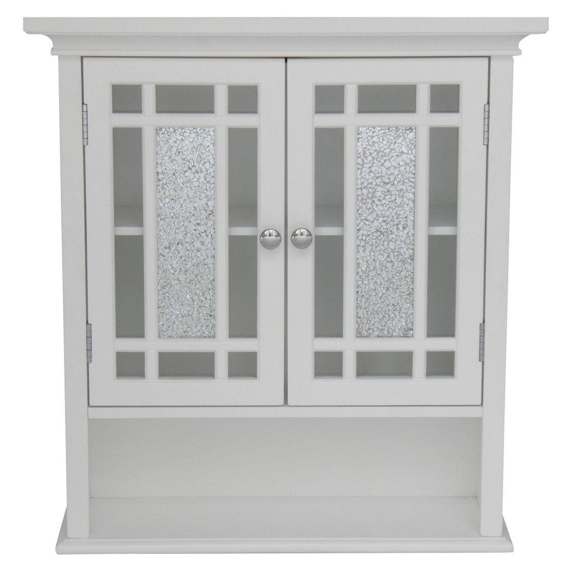 Windsor Wall Cabinet White/Espresso - Elegant Home Fashions ...