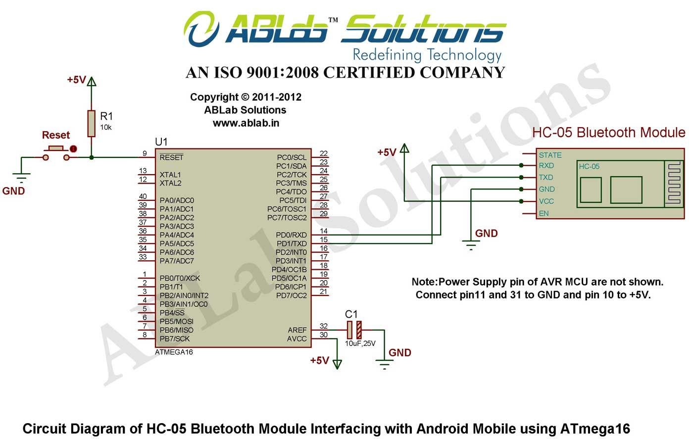 How to interface a HC-05 Bluetooth Module with an Android Mobile using AVR  ATmega16 microcontroller | Microcontrollers, Circuit diagram, InterfacePinterest