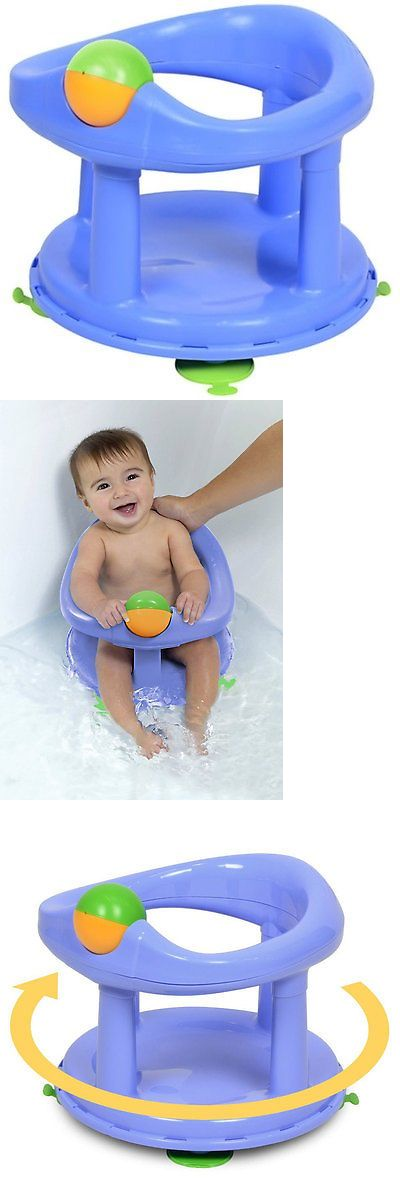 Safety 1st Baby Bath Support Swivel Bath Seat - Pastel Blue | Bath ...
