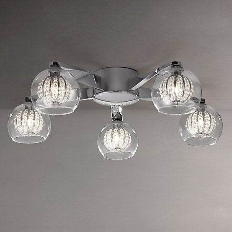 Buy John Lewis Claire Beaded Semi Flush Ceiling Light 5
