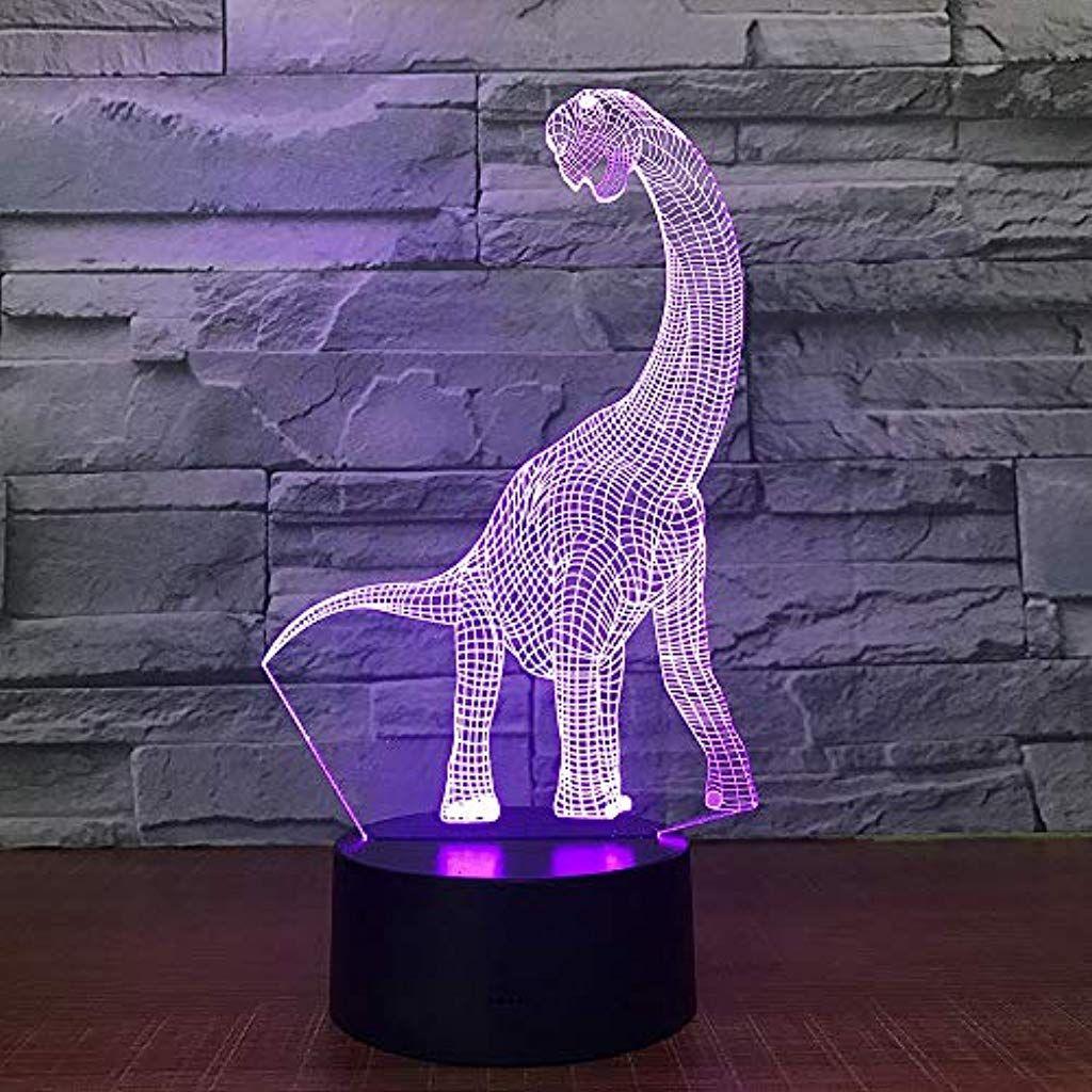 Llzgpzxyd 3d Led Nachtlicht 7 Farben Langer Hals Kupplung Touchscreen Usb Tischleuchte Dekoration Bunte Led Beleuchtung Beleuch Led Beleuchtung Nachtlicht Led