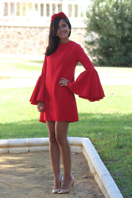 Vestido flamenca corto mujer