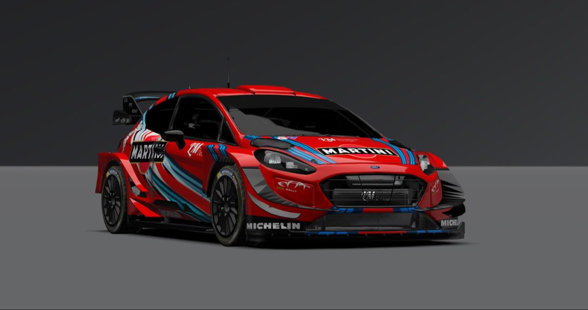 Ford Fiesta WRC Plus Martini Racing #ford #fiesta #martini #michelin #rally #racing #cardesign