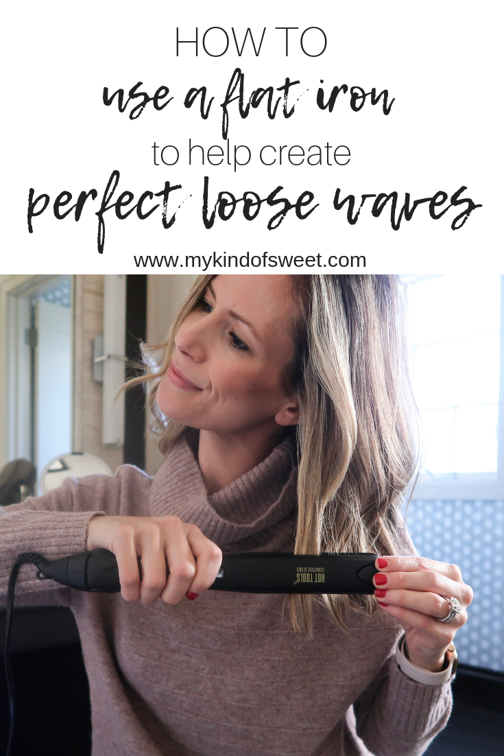 How I Use A Flat Iron To Perfect My Loose Waves - my kind of sweet #flatironwaves