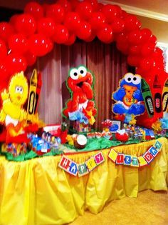 Diy Sesame Street Birthday Party Ideas Google Search Jayce
