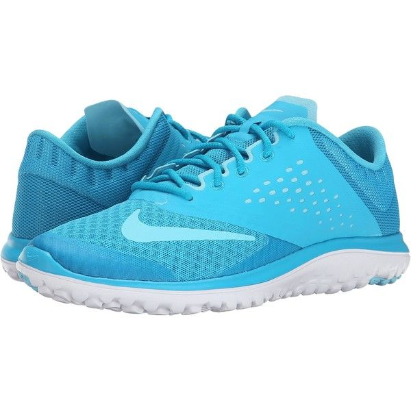 Nike FS Lite Run 2 (Blue Lagoon/White/Tide Pool Blue) Women's Running...  ($41) ❤ liked on Polyvore featuring shoes, athletic shoes, blue, nike shoes,  nike ...