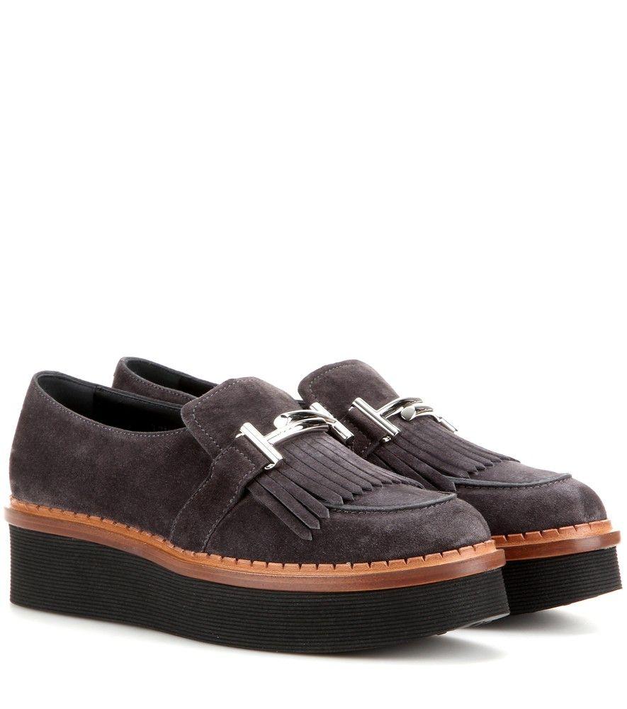 Leather platform loafers Tod's yHkjDyP