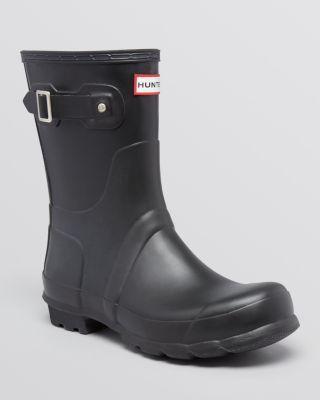 hunter men's original short boots hunter shoes boots