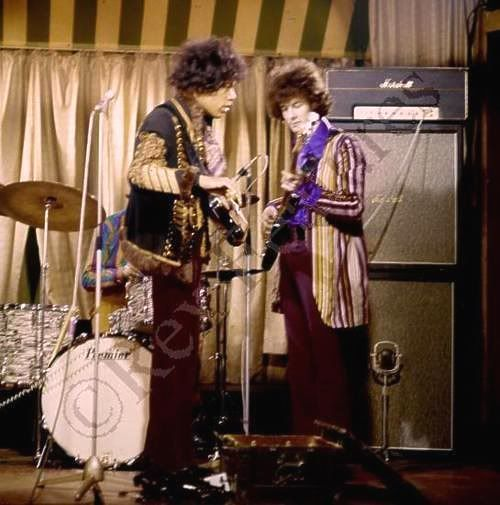 Jimy Hendrix and Eric Clapton On Stage!, at 'Marquee Club', (1967) - another photo, colour photo.