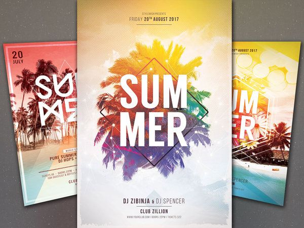 Summer Flyer Bundle Vol 16 by styleWish (Buy PSD files for $16