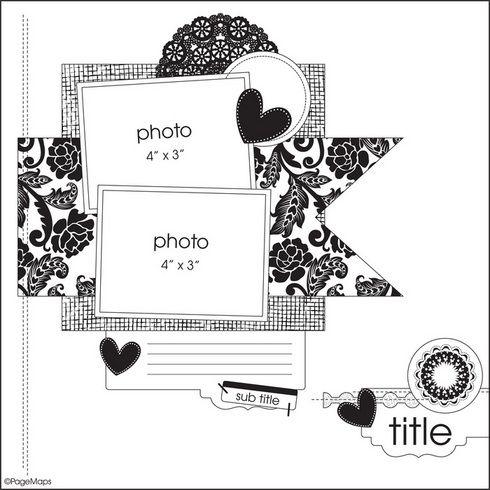 2-photo layout Scrapbook Layouts Gallery: Becky Fleck Sketch #5 by heidi
