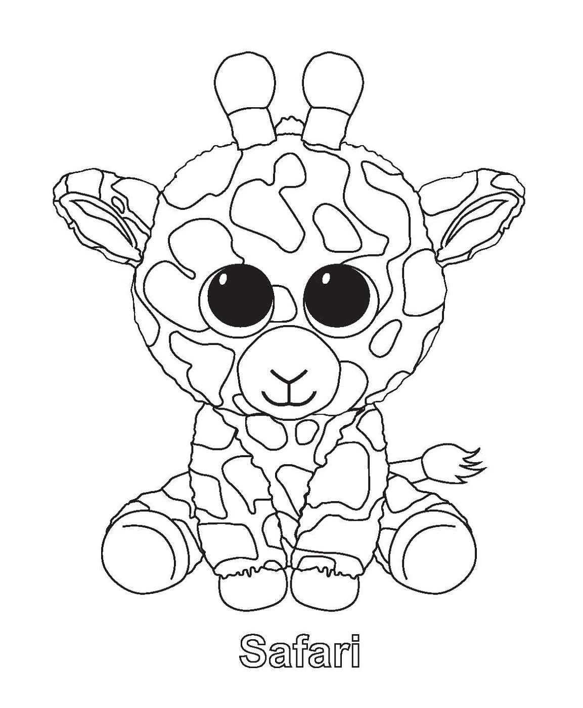 Safari Beanie Boo Coloring Pages