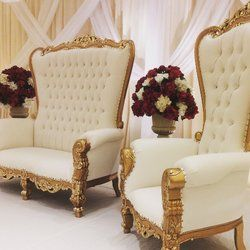 Fantastic White And Gold King And Queen Chairs Wedding Sweetheart Dailytribune Chair Design For Home Dailytribuneorg