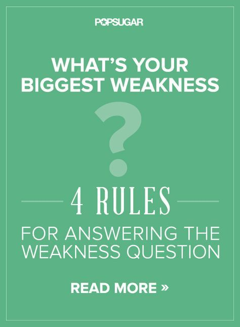 job interview weaknesses