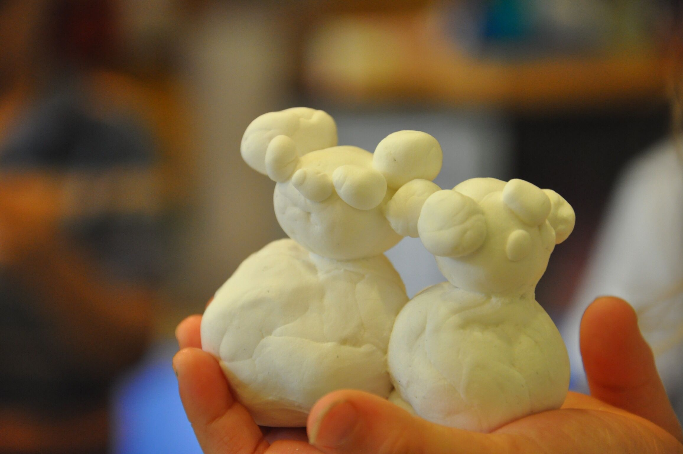 Create with clay.
