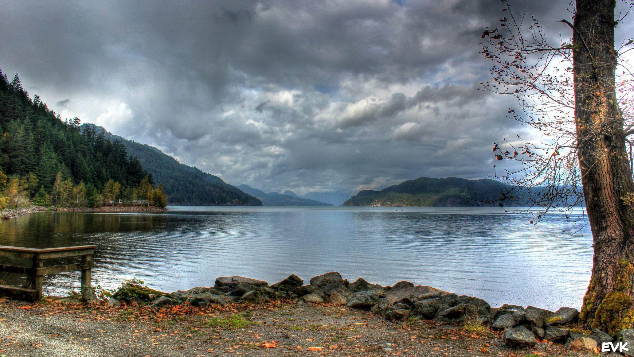 #scenery #harrison #lake #mountains Harrison Hot Springs