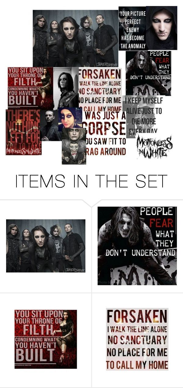 """MIW Collage (Motionless In White)"" by alishataylor ❤ liked on Polyvore featuring art"