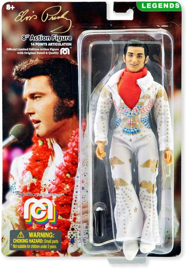 Mego 8Inch Elvis with Aloha Jumpsuit Action Figure
