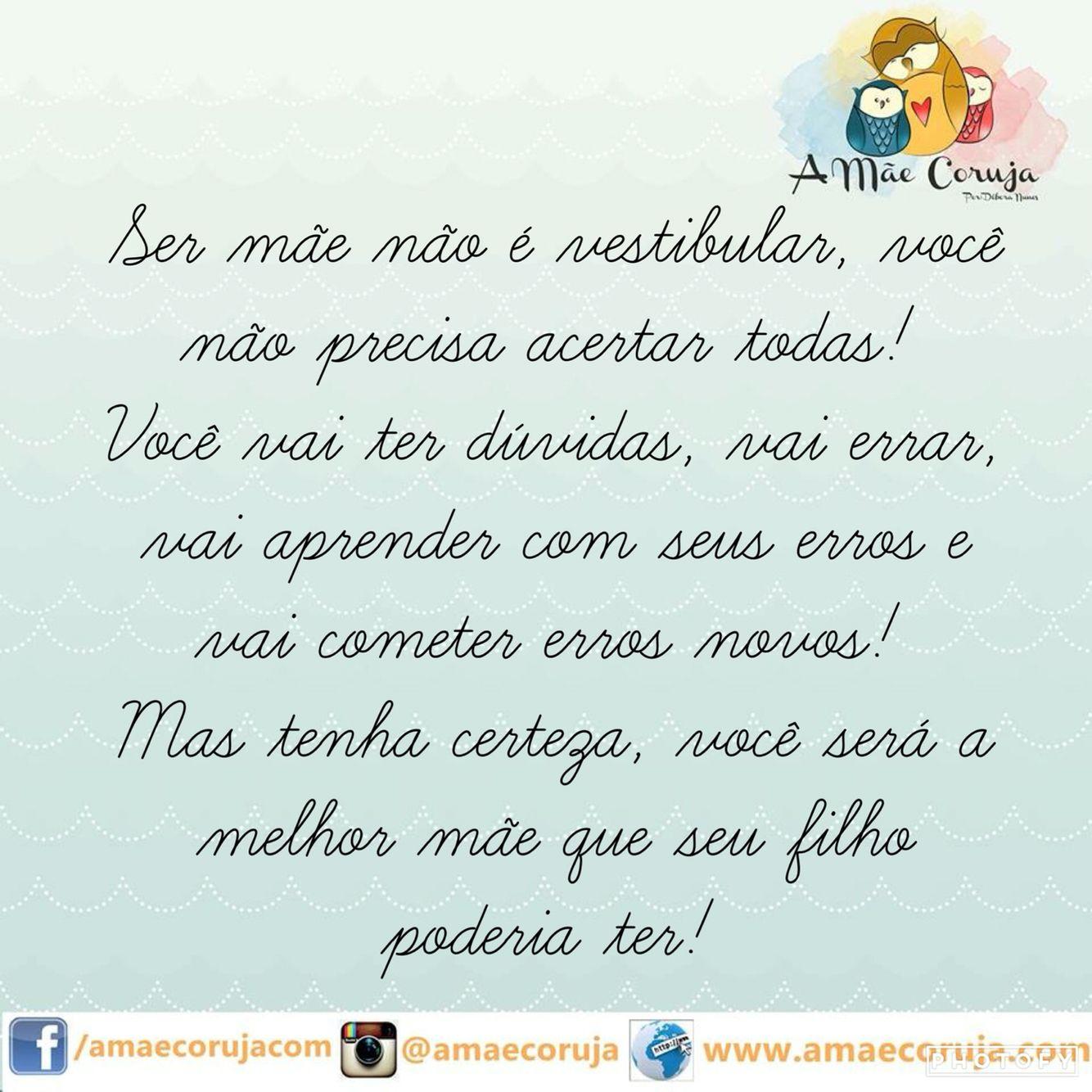 Ser Mãe Frases Textos Mom Reading Quotes E Quotes