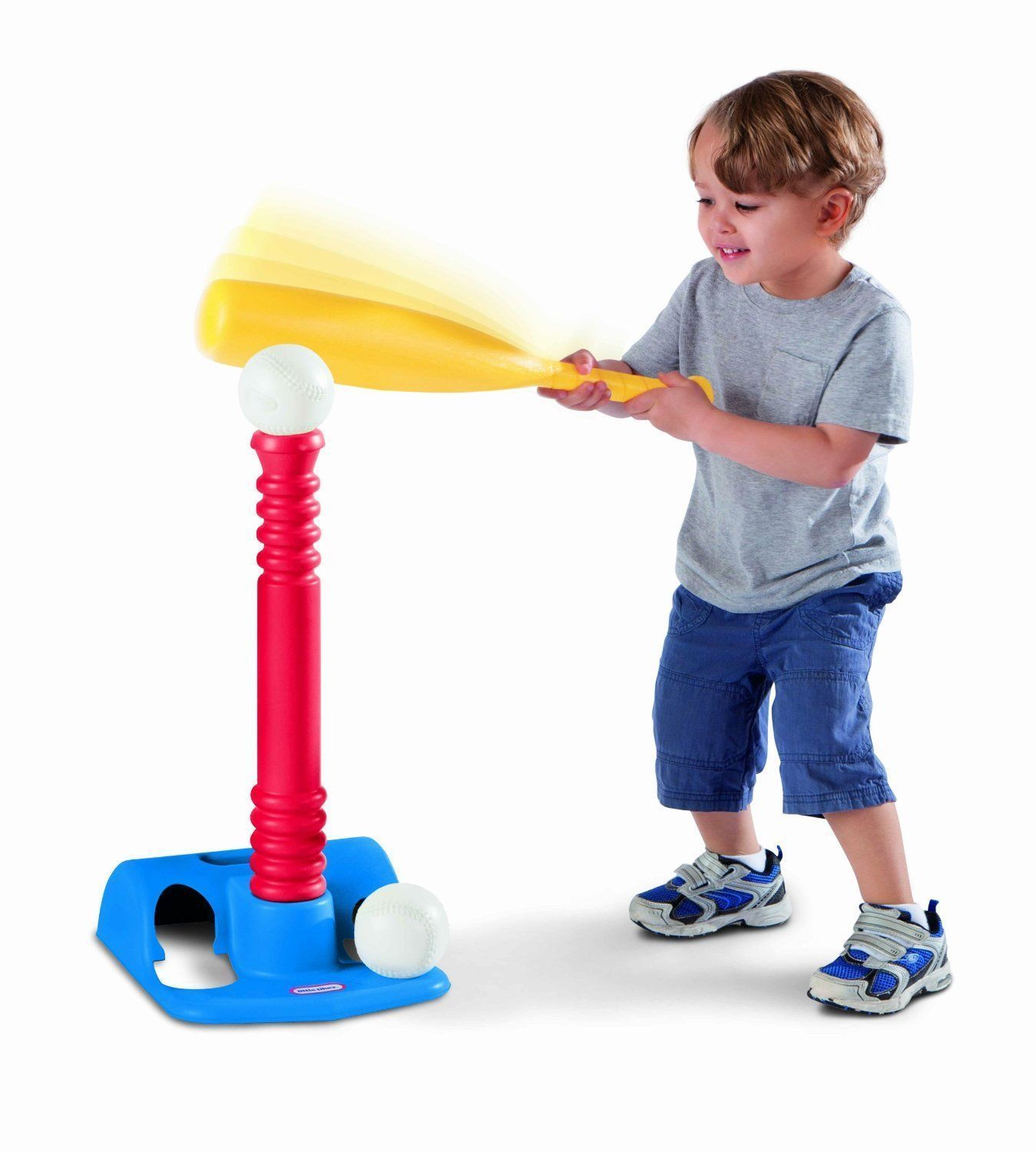 Little Tikes Tots T Ball Baseball Bat 2 Balls & Stand Toddler Kids