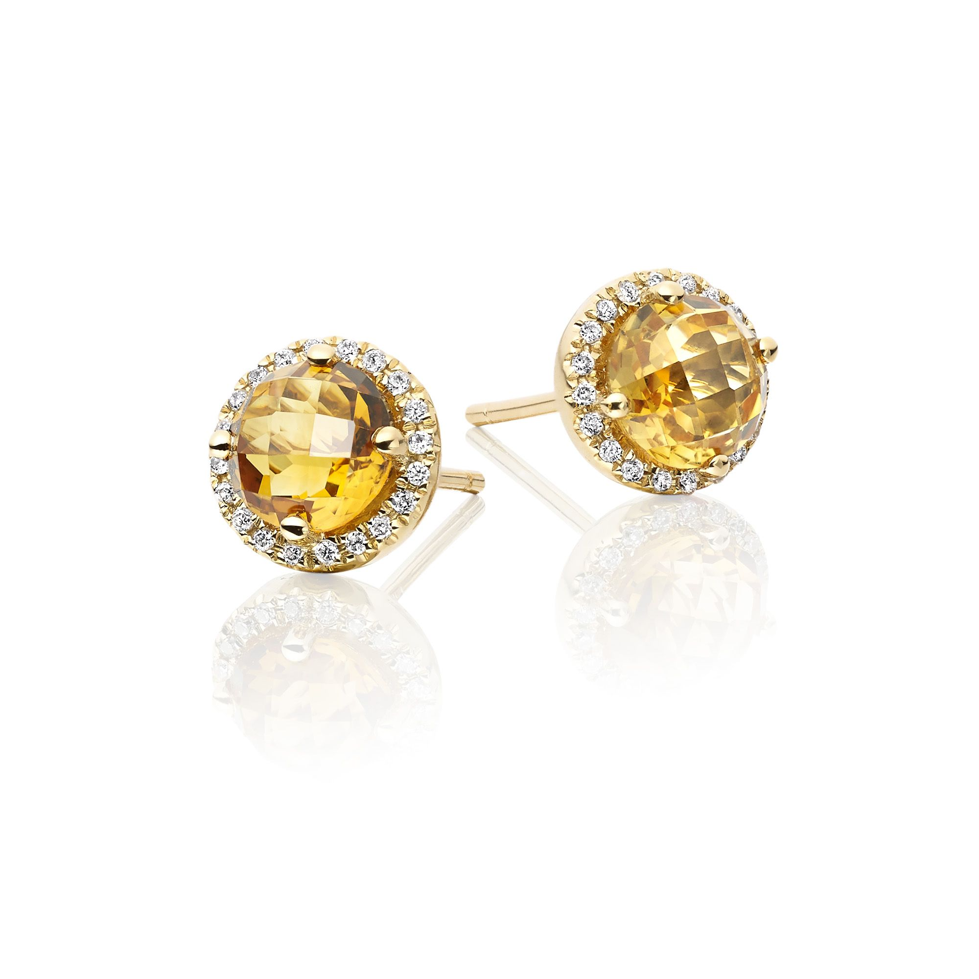 shuga hall trillion earrings dinny diamond cut studs mini