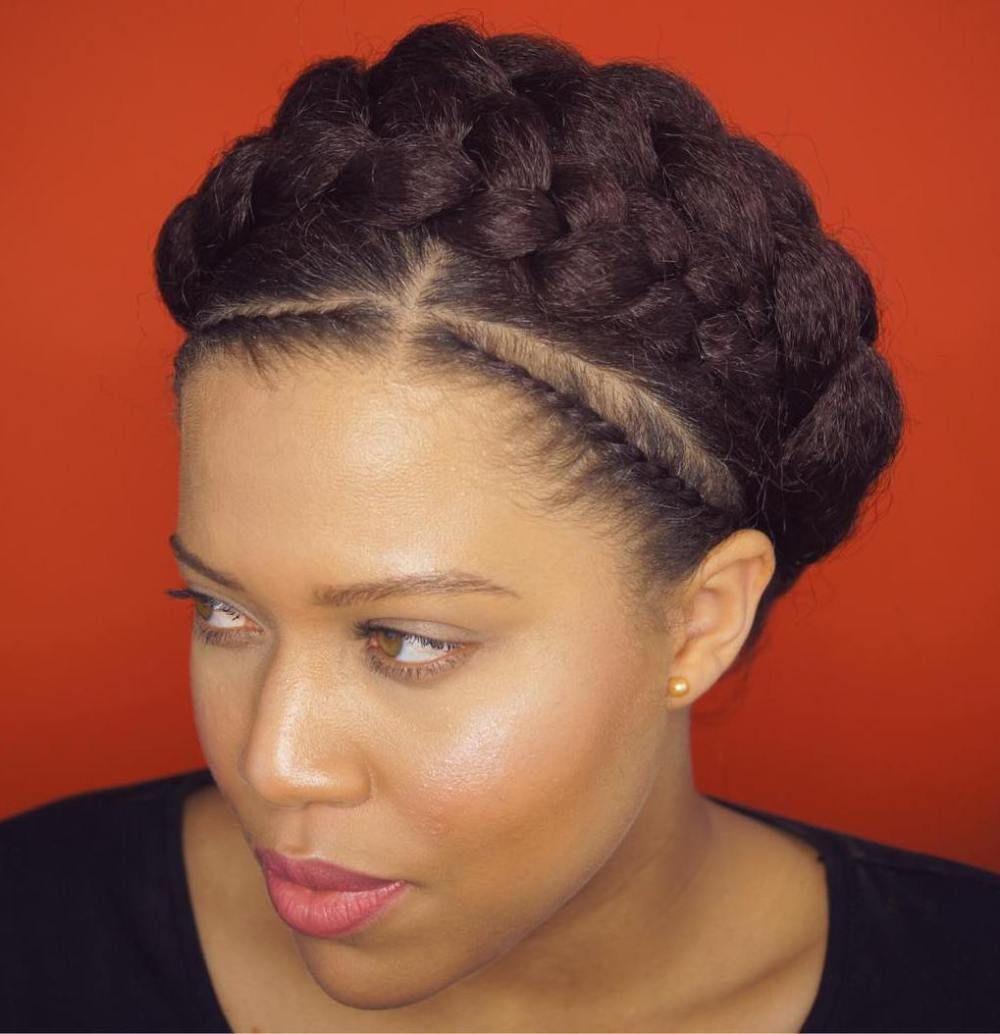 inspiring examples of goddess braids crown braids black girl