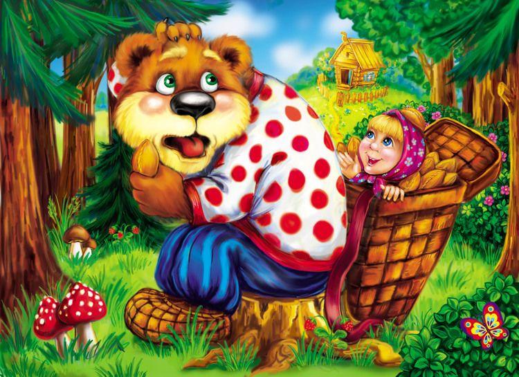 При, картинка маша и медведь сказка