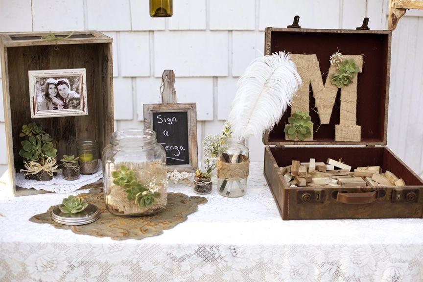 A Succulent Wedding Guestbook Tablejenga Weddingguestbook Ideaswedding