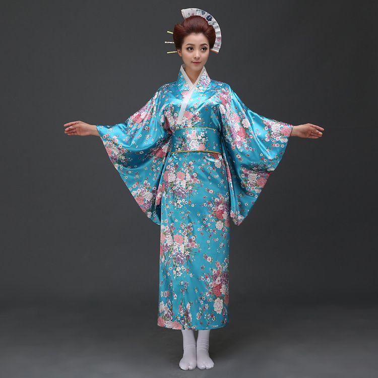 deee0a456f2 Click to Buy    Japanese Sakura kimono dress fashion ladies temperament  dance costume pajamas bathrobe dress up clothes Women Microfiber  Affiliate