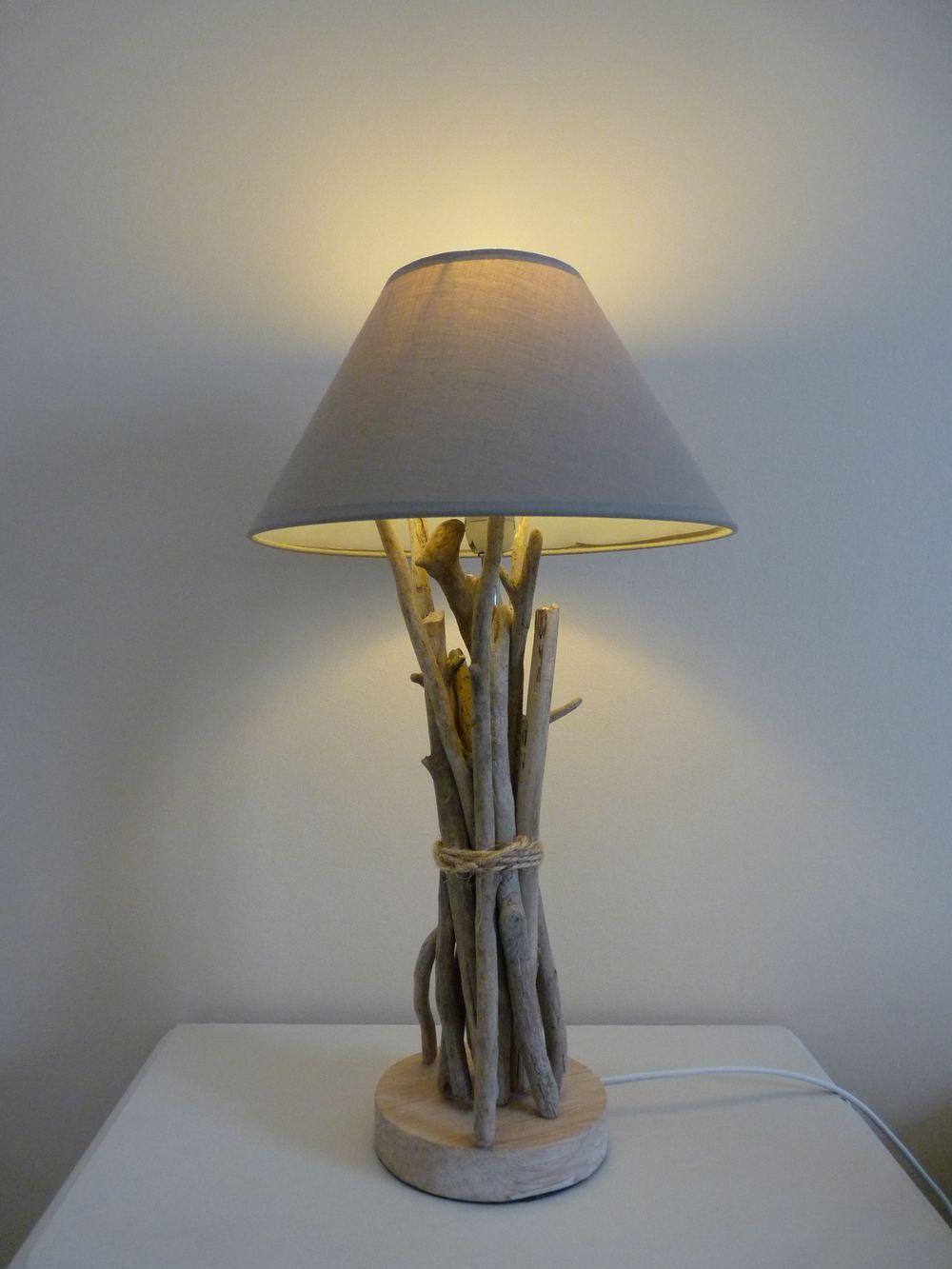 lampe de chevet en bois flott d coration. Black Bedroom Furniture Sets. Home Design Ideas