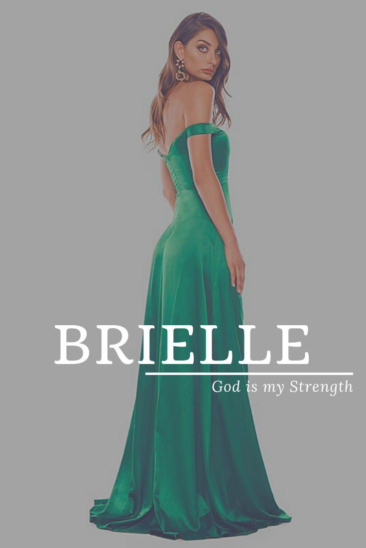 Brielle, meaning God is my Strength, modern names, popular ...