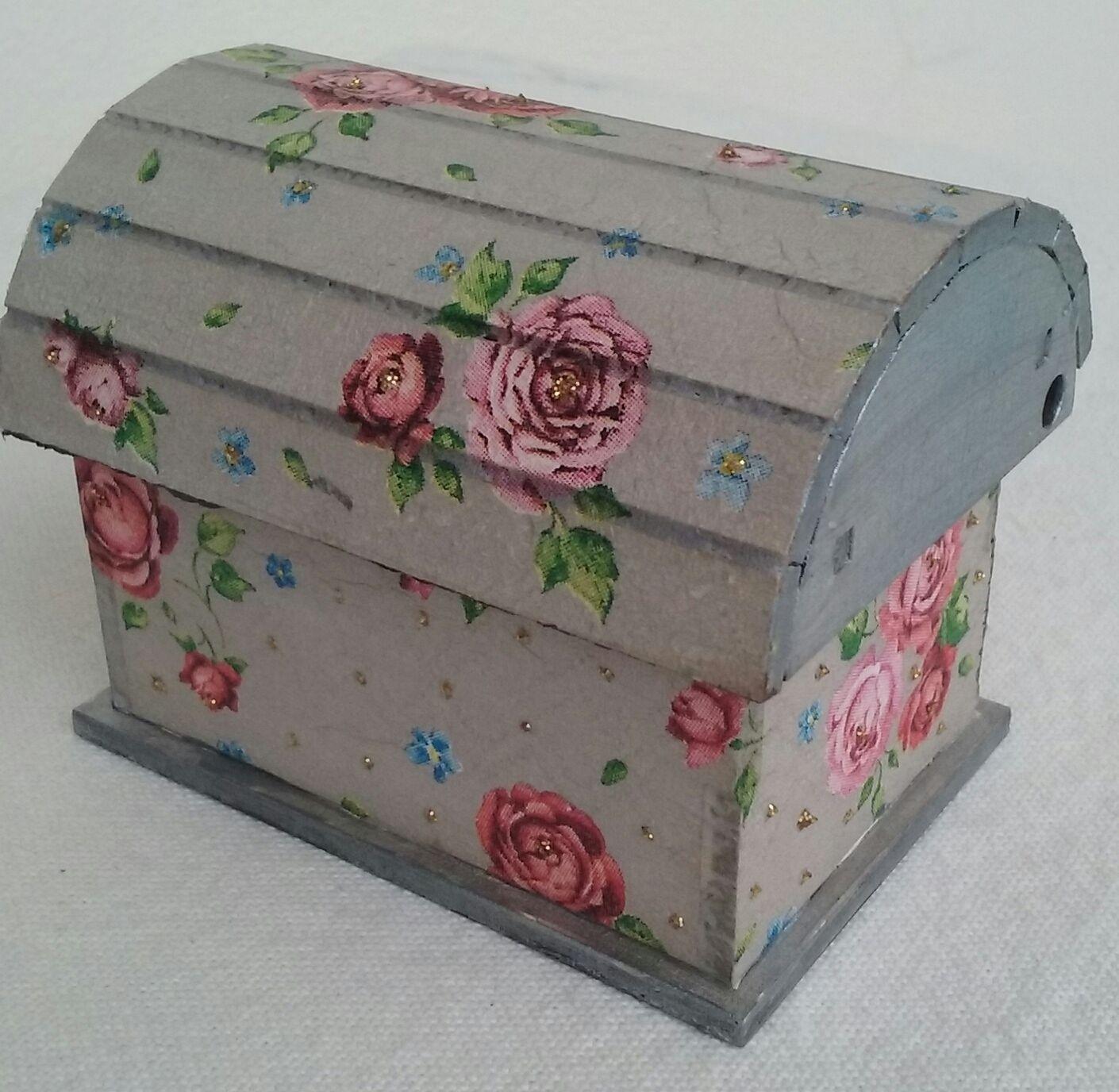 Cofre decorado con decoupage cajas de madera decoradas - Cajas de madera decoradas ...